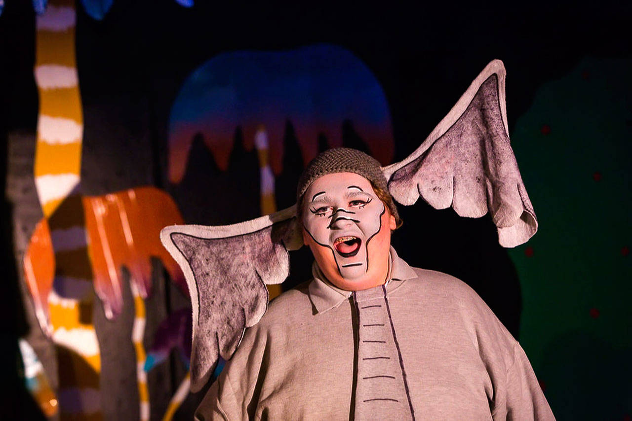 "Horton the Elephant is played by Andrew Knickerbocker in ""Seussical the Musical."" (Photo by Rebecca Ewen)"